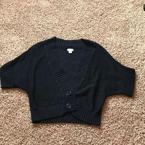 Cropped dolman sleeve sweater